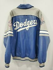 Vintage🔥 LA Los Angeles Dodgers Letterman Leather Baseball Jacket Mens XL