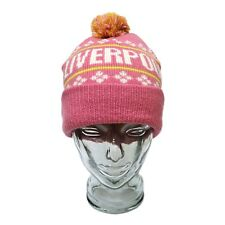 Liverpool Bobble Hat & Glove Set Birthday Gift Pink Adult One Size
