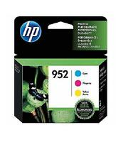 HP 952 Cyan Magenta & Yellow Ink Cartridges, 3 pack Exp - 6/2020 or later