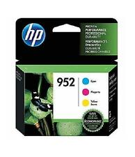 HP 952 Cyan Magenta & Yellow Ink Cartridges, 3 pack Exp - 3/2019 or later
