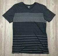 Mossimo Men's Vneck Tshirt Medium Shirt Grey with Stripes