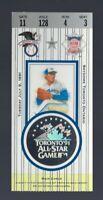 VINTAGE 1991 MLB BASEBALL ALL-STAR GAME TICKET STUB @ TORONTO - CAL RIPKEN MVP