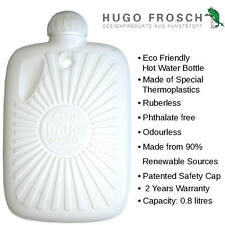 Hugo Frosch Eco Hot Water Bottle Made of >80% Sugar Cane 0.8L | Made In Germany