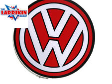 VW Round Red And White Sticker Volkswagon 110mm dia
