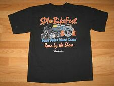 Motorcycle T Shirt South Padre Island Texas 2004 Adult Size M
