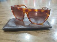 Pierre Cardin PC68 Oversized Tortoise Sunglasses Hong Kong Leather case 1970's