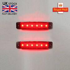 2 x 12v Rosso LED Luce Di Posizione Laterali Camion Rimorchio Camion Furgone telaio TRANSPORTER