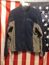 Columbia Sportswear Mens Blue Gray Long Sleeve Full Zip Fleece Jacket Sz Medium