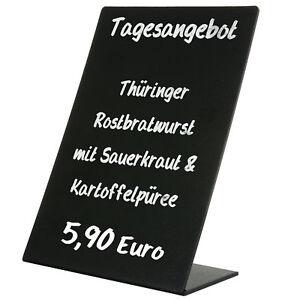 Tischaufsteller Oban PVC Kreidetafel Preisaufsteller A5 A6 A7