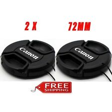 2 Pack Canon 72mm Lens Cap Cover for Canon 7D 70D 28-135 18-200 15-85 35-350