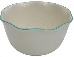 Extra Large Ceramic Deep Mixing Bowl Stoneware 26cm Diameter White 4.5 Litre