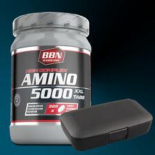 (28,86€/kg) Hardcore Amino 5000 325 Tabletten Best Body Nutrition + Pillenbox
