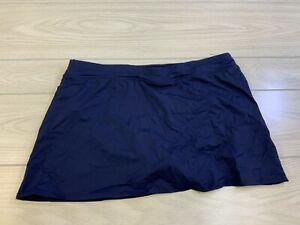 Lands End Solid Mini Swim Skirt, Women's Size 14P, Deep Sea