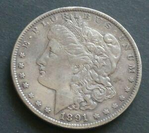 USA 1 Dollar 1891  Morgan  Silber