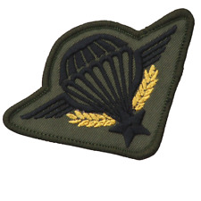 FRENCH FORIGEN LEGION AIRBORNE CLOTH OD BLACK SUBDUED PARACHUTE WINGS PARA WINGS