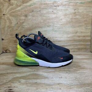 Nike Air Max 270 Retro Future Shoes (AQ9164-005), Men's size 8, Black/Neon Green