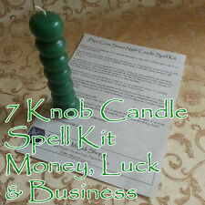 Seven Knob Voodoo Candle Money Spell Kit Financial Luck Lottery Business Income