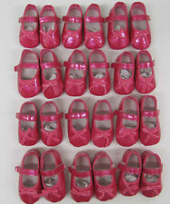 Baby girls pink patent shoes first size  job lot  20 pairs  pram shoes wholesale