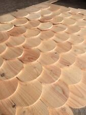 Wooden Roofing Tiles. Fish scale effect. Brilliant Product. Larch Or Douglas Fir