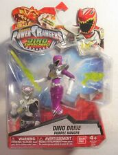 Power Rangers Dino Drive Purple Ranger Super Charge Saban Action Figure New