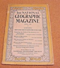 National Geographic April 1926 Exploring Valley Amazon Hydroplane Mycetozoa