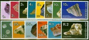 Botswana 1974 Minerals Set of 14 SG322-335 Fine MNH