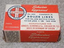 1950's original Schwinn box of  25 chain roller links bicycle bike balloon tire