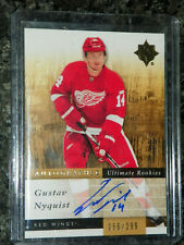 11/12 UPPER DECK ULTIMATE COLLECTION GUSTAV NYQUIST ROOKIE AUTO 56/299 SP UD