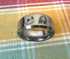 Nightmare Before Christmas Jack & Sally Tungsten Carbide Ring