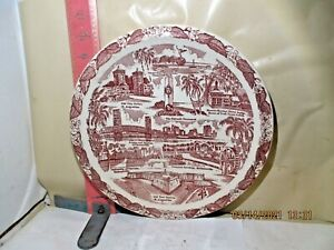 VERNON KILNS PLATE , JACKSONVILLE , FLORIDA - MADE FOR COHEN BROTHERS , THE BIG