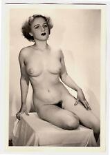 #761 ROESSLER AKTFOTO / NUDE WOMAN STUDY * Vintage 1950s Studio Photo - no PC !