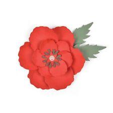 FUSTELLA Bigz DIE PER BIG SHOT SIZZIX Papavero Poppy 663353 fustelle fiori