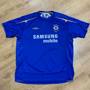 Chelsea London 2005/2006 Centenary Home Football Shirt Jersey Umbro Size 2XL