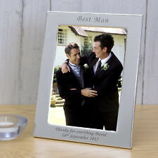 Wedding Party Role Silver Plated Photo Frame 6x4 - Personalised Engraved Gift Portrait Best Man
