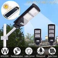 60W/90W Solar Street Light PIR Motion Sensor Outdoor Garden Path Wall Road Lamp