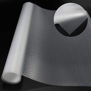 Drawer Liners Roll Shelf Liner EVA Non-Slip Cabinet Drawer Mat Fridge Liner Roll