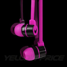 3.5mm High Quality Stereo In-Ear Earphone Headset with Mic On/Off Purple