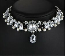 Boho Collar Choker Water Drop Crystal Beads Choker Necklace & pendant Vintage
