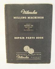Milwaukee Milling Machines Repair Parts Book Model 2h Hr14 Catalog Kearney Treck