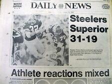 1980 NY Daily News newspaper PITTSBURGH STEELERS win SUPER BOWL XIV vs LA RAMS