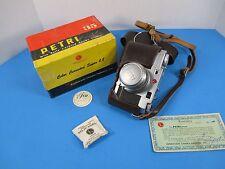Petri 2.8 Color Corrected Super 35mm Camera W/Kuribayashi 45mm f2.8 lens Box VS8