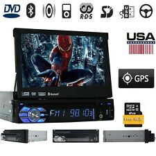 "Single 1 Din In-dash Car Stereo 7"" HD Touch Screen DVD Player GPS Aux iPod Radio"