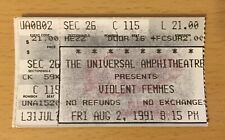 1991 Violent Femmes Los Angeles Concert Ticket Stub Blister In The Sun Ad It Up