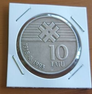 Latvia 1993 Declaration of Independence 10 Latu Silver Coin,Proof
