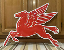 Mobil Pegasus Gasoline Metal Sign Garage Vintage Style Wall Decor Oil Horse Pub