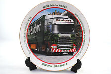 22ct GOLD Hand-Gilded EDDIE STOBART SCANIA 44T R440 Fine Porcelain 210mm Plate