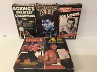 LOT VHS BOXING MUHAMMED ALI JOE LOUIS GRUDGE FIGHT SKILLS BRAINS GUTS CHAMPIONS