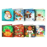 5D DIY Diamond Painting Greeting Card Special-shaped Birthday Festival Gift NI5L