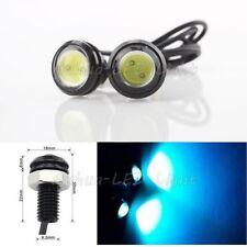 2 Pcs 2W Eagle Eye COB LED Ice Blue Daytime Running DRL Tail/Head Light Backup