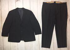 Valentino Uomo Men's 44 40x30 Black Italian Wool 2 Button Blazer Jacket Suit